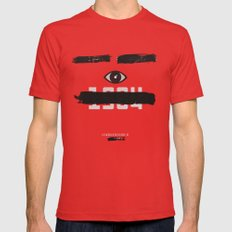 George Orwell's 1984 Inspired Vintage Movie Poster Mens Fitted Tee Red MEDIUM