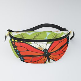 Red butterfly Fanny Pack
