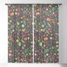 Farmers Market Sheer Curtain