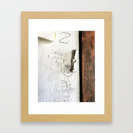 Barn Wall Scribble Framed Art Print