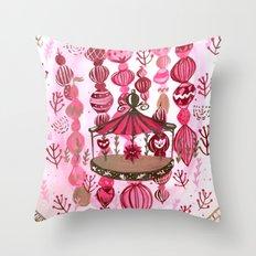 Feria de las Flores Part Deux Throw Pillow