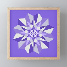 Diamond Purple Mandala Framed Mini Art Print