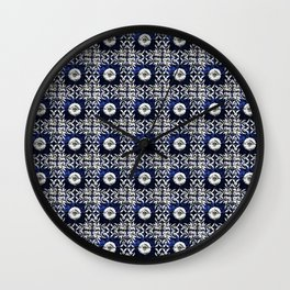 Azulejo VII - Portuguese hand painted tiles Wall Clock