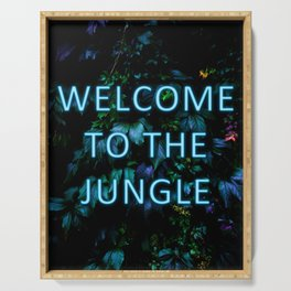 Welcome to the Jungle - Neon Typography Serving Tray