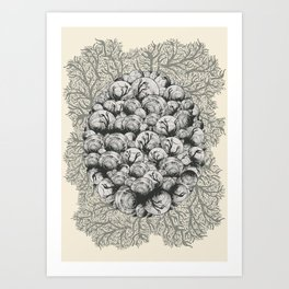 When Zombie Snails Attack Art Print