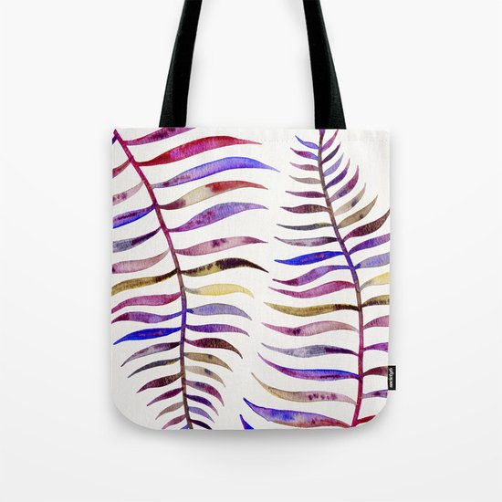 Magenta Palm Leaf Tote Bag