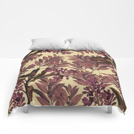 Purple Leaves Comforters