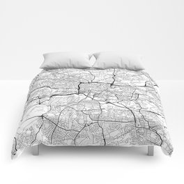 Glasgow Map White Comforters