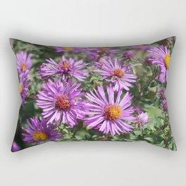 Autumn Amethyst - New England Aster flowers Rectangular Pillow