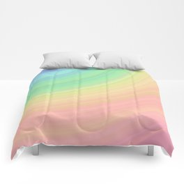 Abstract Pastel Rainbow I Cute abstract circles, gradient pattern Comforters