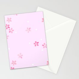 Cherry Blossoms in Pink Stationery Cards