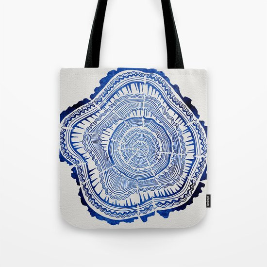 Growth Rings – 65 Years – Navy Tote Bag