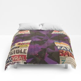 PURPLE CROSS GRAPHIC Comforters
