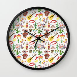 Hey Mexico Wall Clock