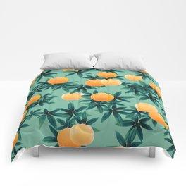 Orange Twist Vibes #1 #tropical #fruit #decor #art #society6 Comforters