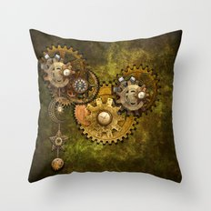 Clock Wall 2 Throw Pillow