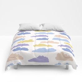 Hand drawn vector cloud illustration. Seamless repeating pattern Comforters