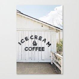 Ice Cream & Coffee Canvas Print