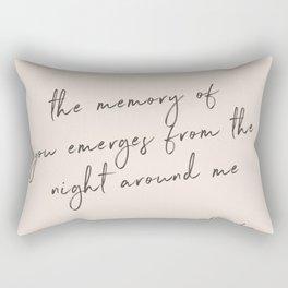 The Memory of Your - Pablo Neruda Rectangular Pillow