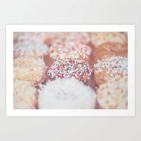 Delicious Donuts Art Print