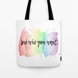 love who you want Tote Bag