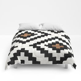 Urban Tribal Pattern No.16 - Aztec - Concrete and Wood Comforters