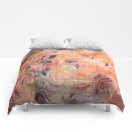 Desert Peach Abstract Comforters