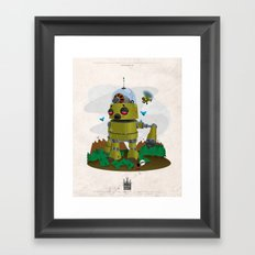 Monster robot toy Framed Art Print