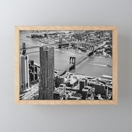 Brooklyn Bridge View - New York City Framed Mini Art Print