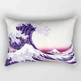 The Great wave purple fuchsia Rectangular Pillow