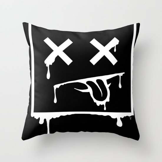 Dead Pixel Negative Throw Pillow