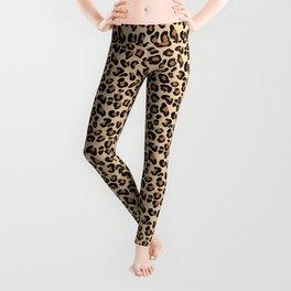 Leopard Print, Black, Brown, Rust and Tan Leggings
