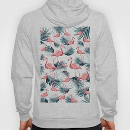Summer Flamingo Palm Vibes #1 #tropical #decor #art #society6 Hoody