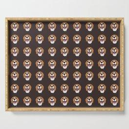 Happy Beagle Dog Serving Tray