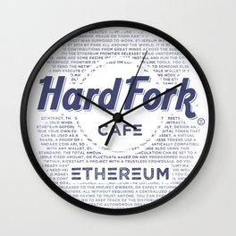 Hard Fork Cafe Ethereum (blue) Wall Clock