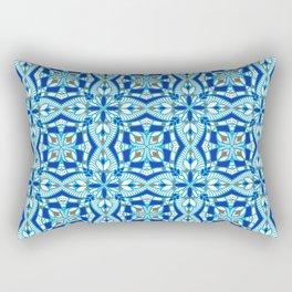 Mediterranean blue tiles Rectangular Pillow