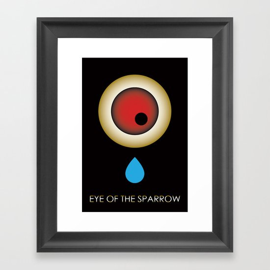 Eye Of The Sparrow Framed Art Print