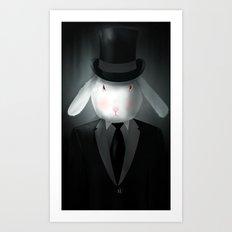 Good-Evening, Mr. Bunny Art Print