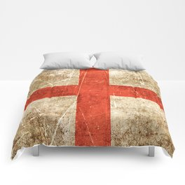 Vintage Aged and Scratched English Flag Comforters