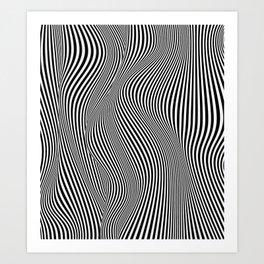 Abstract black & white illusion Art Print
