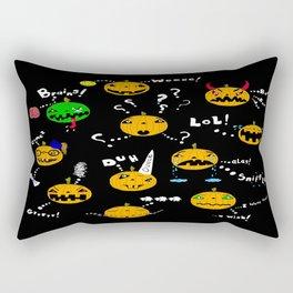 Pumpkins have feelings too - Happy Halloween! Rectangular Pillow