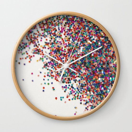 Fun II (NOT REAL GLITTER) Wall Clock