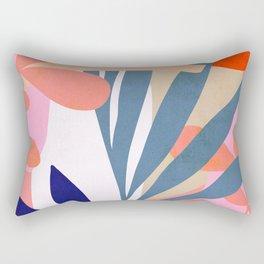 Jungle Love - Pink & Blue Rectangular Pillow
