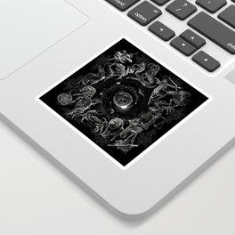 XXI. The World Tarot Card Illustration (Zodiacs) Sticker