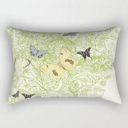 Butterflies in the bee loud glade Rectangular Pillow