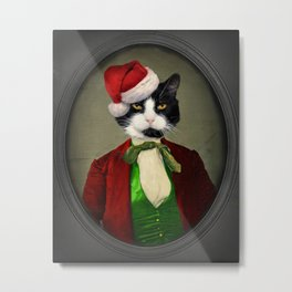 Puccini goes to a Christmas Party Metal Print