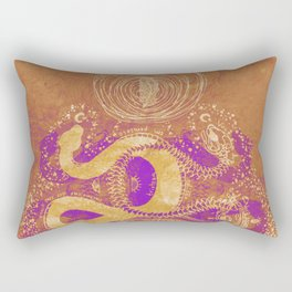 Snake Destiny (Golden Colors) Rectangular Pillow