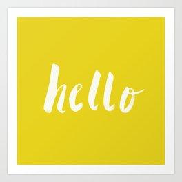 Hello x Sunshine Script Art Print