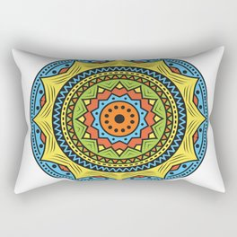 Colorful mandala ornamentation design Rectangular Pillow