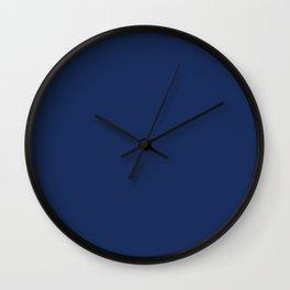 Midnight Blue Color Wall Clock